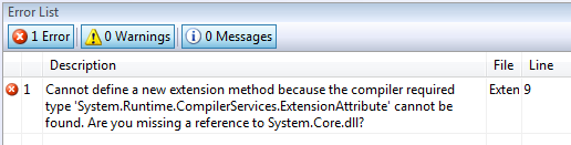 Extension Method Error